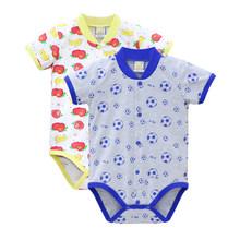 Meninos e meninas Roupas de bebê 100% Algodão Bodysuits 2 peças/lote para 0-12 meses Newborn One Piece Roupas de Natal(China)