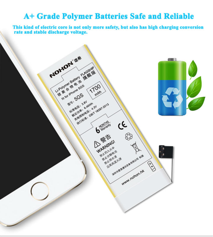 NOHON Battery For Apple iPhone 5 Details (06)