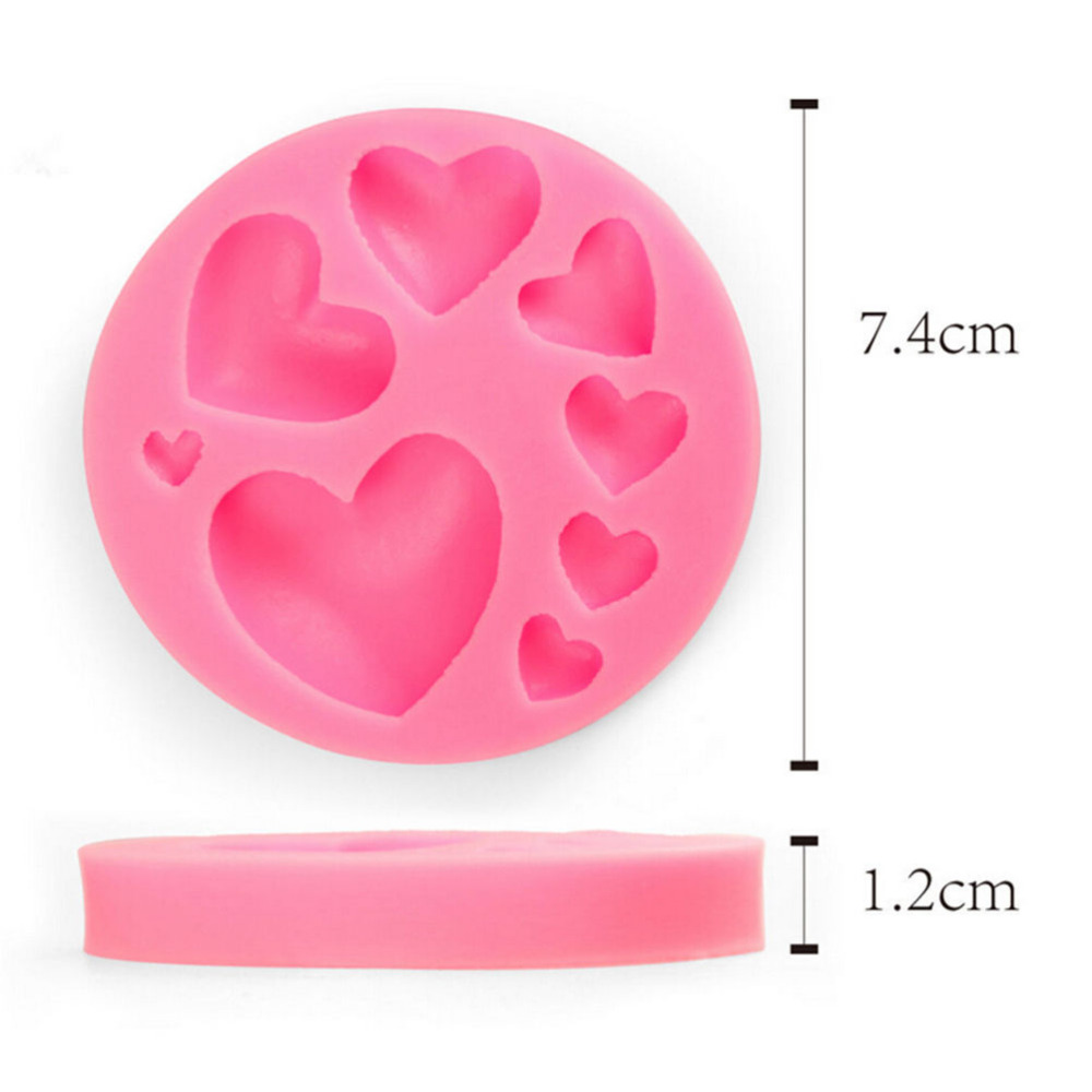 2016 New 1PCS 3D Heart Shape Cake Mold Cake Decorating Tools Mold Liquid Silicone Mold For Fondant Silicone Cake Tools(China (Mainland))