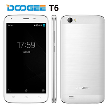 Presell 4G LTE Smartphone 6250mAh Battery DOOGEE T6 5.5inch HD Android 5.1 MTK6735 Quad Core 2GB RAM 16GB ROM 8.0MP Dual Sim