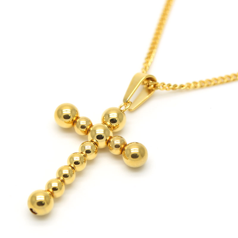 Round Ball Shaped Cross Pendant Necklace 18K Gold Plated Flat Necklace Mens Bling Iced Out Jewelry Hot Cross Pendant Necklace(China (Mainland))
