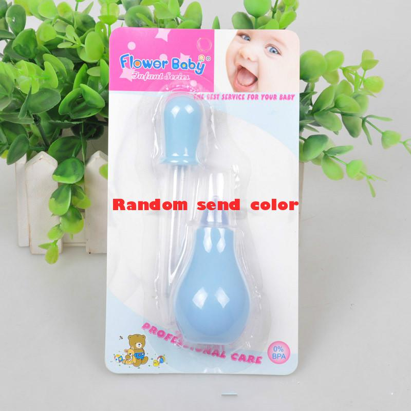 2016 hot Baby safety nasal pump type baby nasal aspirator /Nasal aspirator + dropper feeder set Baby Care Newborn Baby Care