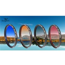 Gradual Blue lens color filter for Sony Nikon Canon 700D 100D Camera DSLR 52mm 55mm 58mm 62mm 67mm 72mm 77MM d5200 d5300