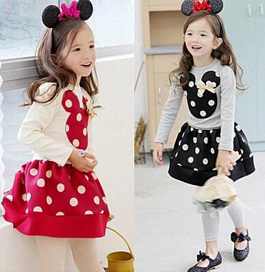 New 2015 Autumn Girls Clothing Sets Fashion cartoon Kids Clothes Sets 2~6 Age Baby(China (Mainland))