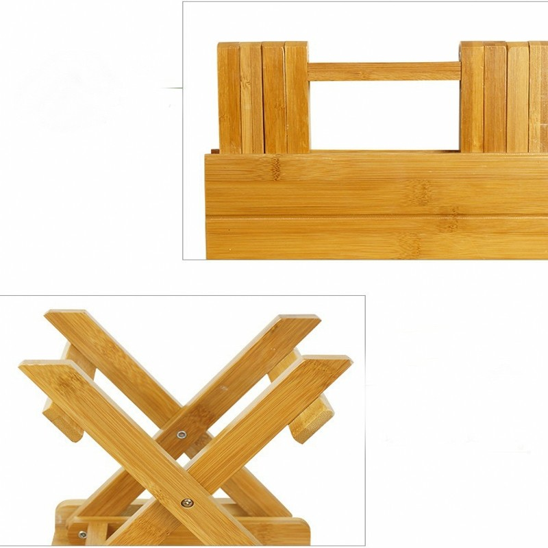 Environmental bamboo made square small benches portable & folding small wood benches Fishing stool