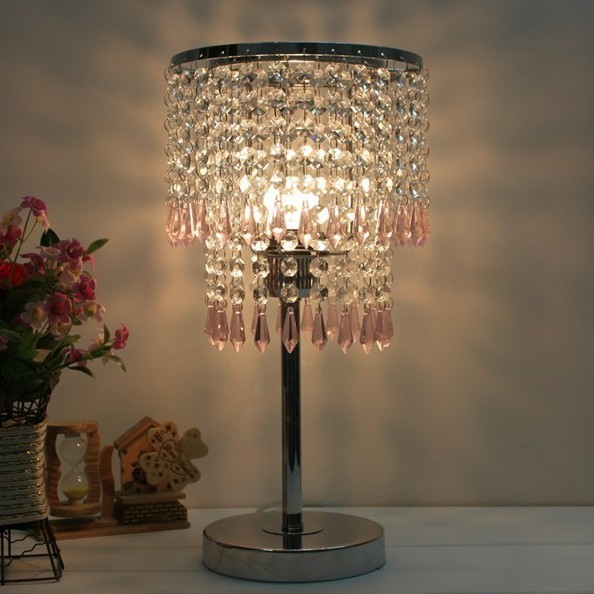 Modern fashion crystal table lamps bedside crystal art deco table lamps(China (Mainland))