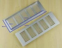 10Pcs/Lot Anodized Aluminum Air Vent Ventilator Grille Cover Ventilation For Closet Shoe Cabinet  150*80mm