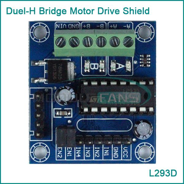 2pcs mini motor drive shield expansion board l293d module for arduino uno mega 2560 in Arduino mega 2560 motor shield