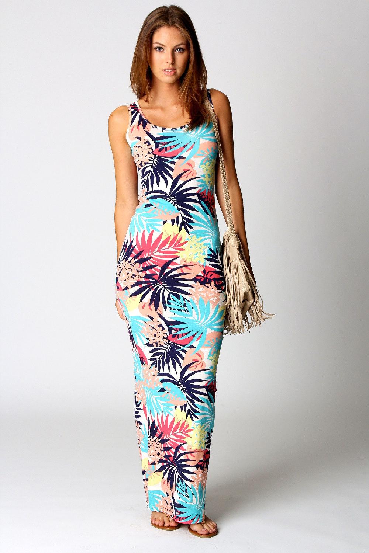 Popular Tropical Print Maxi Dress Summer-Buy Cheap Tropical Print ...