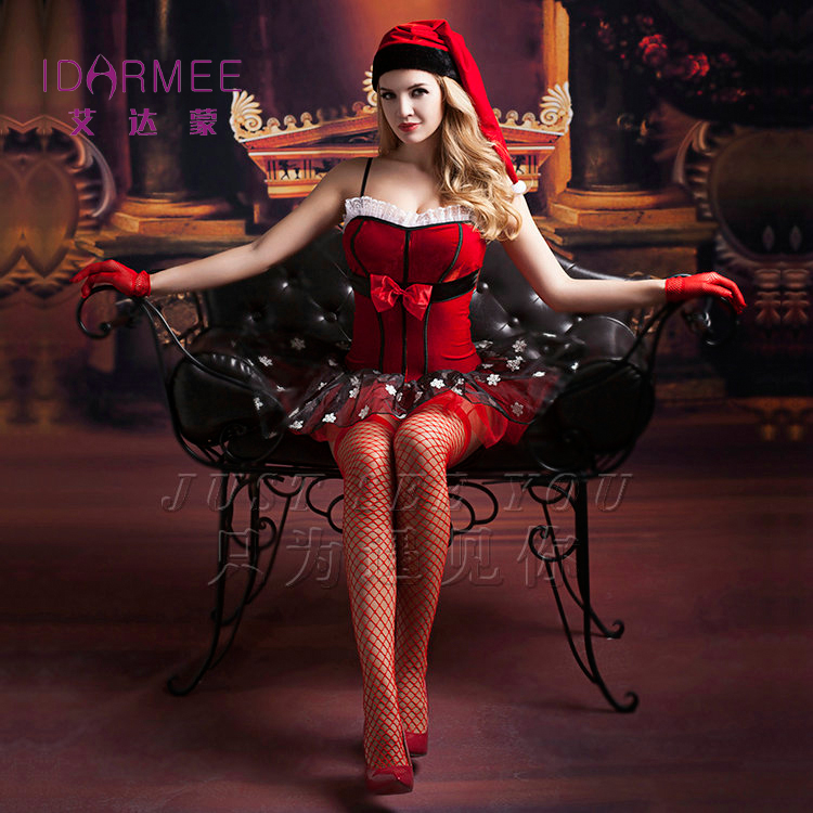 IDARMEE Top Grade Lover's Gift Sexy Princess Halloween Costume for Women Sexy Santa Sexy Lingerie Carnaval Costume Outfit S9157#(China (Mainland))