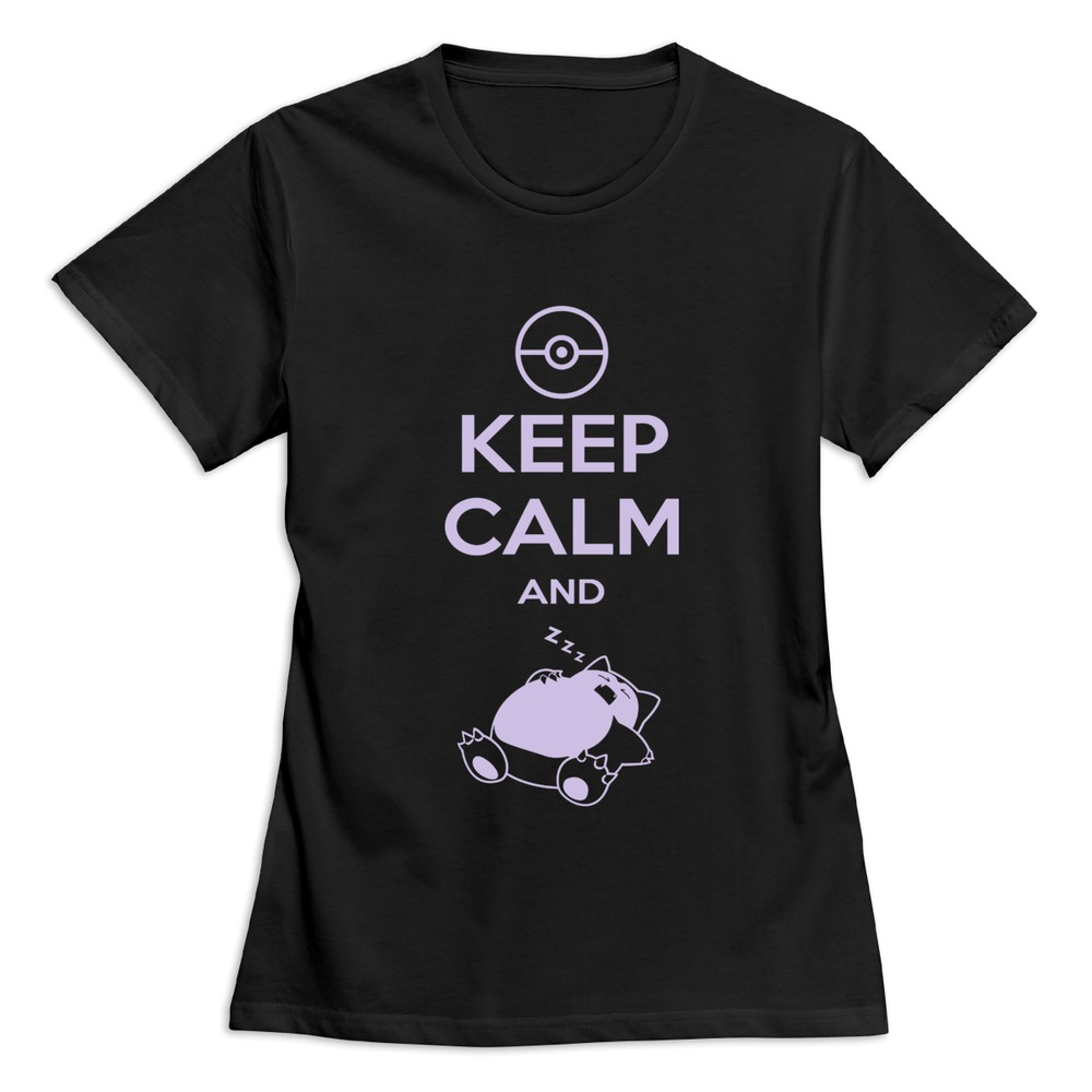 Brand new keep calm and carry on snorlax sleep on pokemon for T shirt design keep calm
