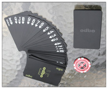 Waterproof  novelty plastic pvc poker cards pure Black color playing card as collection special poker set board game cards(China (Mainland))