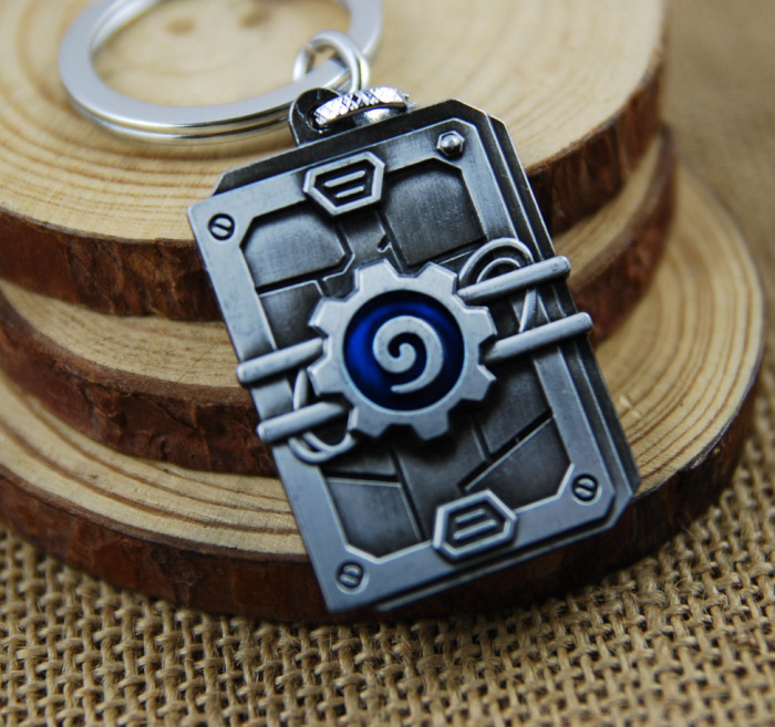 [HearthStone] Heroes Of Warcraft Game Logo Souvenir Pendant Keychain 3D Design Jewelry Key Ring Collection Friend Cool Gift New(China (Mainland))