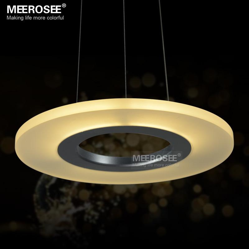 Acrylique anneau rond luminaires led pendant lights pour for Gros luminaire suspendu