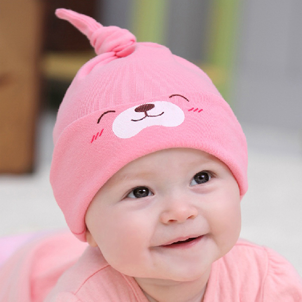 11 Colors Cute Baby Girls Boys Cartoon Toddlers Cotton Sleep Cap Headwear Hat New