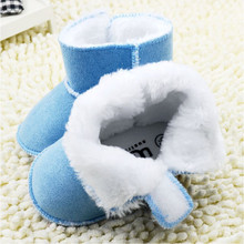 Winter Baby Shoes First Walkers Faux Fur Newborn Boys Girls Warm Boots High Quality Soft Bottom Infants Anti-slip Snow Shoes(China (Mainland))