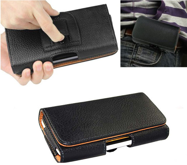 Belt Clip Loop Hip Holster Leather Flip Pouch Case Cover For Apple iPhone 4S 4 3GS 3G(China (Mainland))