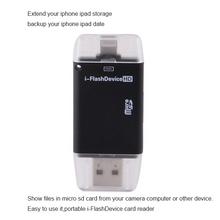 3 в 1 кард-otg Micro Usb флэш-накопитель Tf Hd чтения карт u-диск для Iphone / Ipad / air 2 Ipod интерфейс