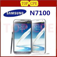 original samsung Galaxy Note II 2 N7100 EU version Refurbished N7105 8.0MP camera GPS Android 4.1 phone WIFI Free shipping(China (Mainland))