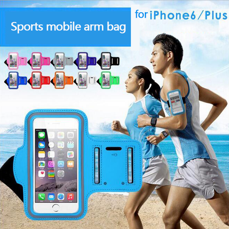 """4.7-5.5"""" Inch Mobile Phone Sweatproof Waterproof Jogging Running Arm Bag band Holder Case Outdoor Sport Cellphone Bag Pouch(China (Mainland))"""