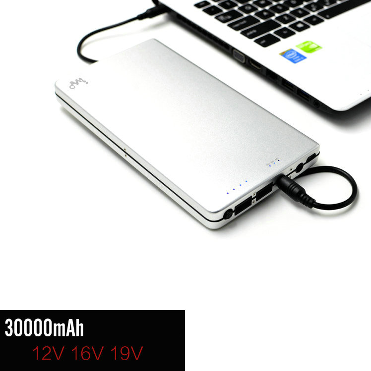 Universal 30000mAh Notebook Power Bank for Macbook Air 11 12 13 15 Pro External Battery DC USB Output for Cell Phone and Laptop(China (Mainland))