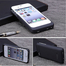 Portable 3200mAh Backup External Battery Charger Case PowerBank Charging Power Bank Pack Case for iPhone 4 4S 4G Black(China (Mainland))