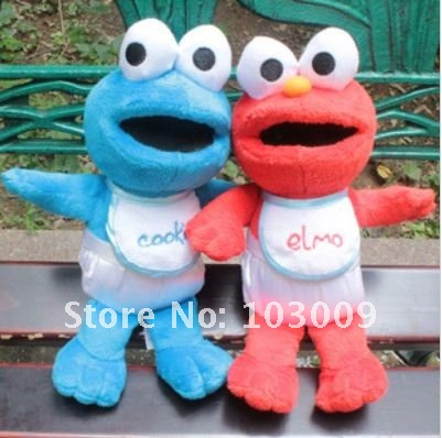 Cartoon characters Sesame Street plush toys baby Ai Mo and Cookie Monster Plush Dolls Doll toy f(China (Mainland))