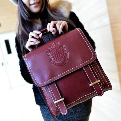 Bag 2015 New Crown With Double Back Shoulder Bag  Shoulder Bag Retro Fashion Korean Students<br><br>Aliexpress