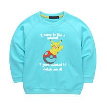 Hot Pokemon Go Kids Clothes Boys Girls Hoodies Sweatshirts Pikachu Hoodie t-shirt Children Clothes Long Sleeve Clothing