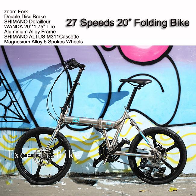 27 Speeds 20'Folding Bike 6 Spokes wheels Mountain Bike20 Mini Bicicleta Plegable Mountain Bicycle City Bicicletas Child Cycling(China (Mainland))