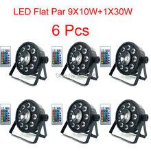 Buy 6 Pcs LED Flat Par 9X10W+1X30W Wireless Remote Control Wash 7 Dmx Par Light 120W American DJ Par RGB 3in1 Led Par for $264.00 in AliExpress store