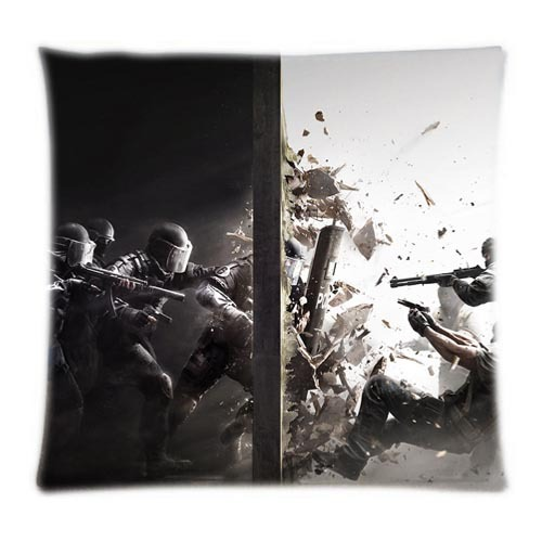 "2015 New Arrival Shooting Game ""Tom Clancy's Rainbow Six Siege"" Home&Car Customized Pillowcases Plush&Stylish Both Sides Printed(China (Mainland))"