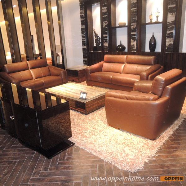 Leather sofa product in China of furniture factory Oppein Italy classic sofa office sofa OS-0114007(China (Mainland))