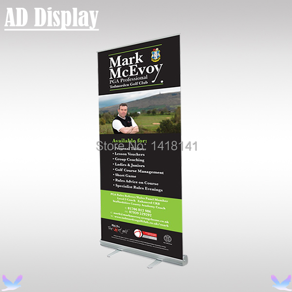 100*200cm Standard Aluminum Retractable Roll Up Banner Stand,Pull Up Display,Trade Show Portable Advertising Display Equipment(China (Mainland))
