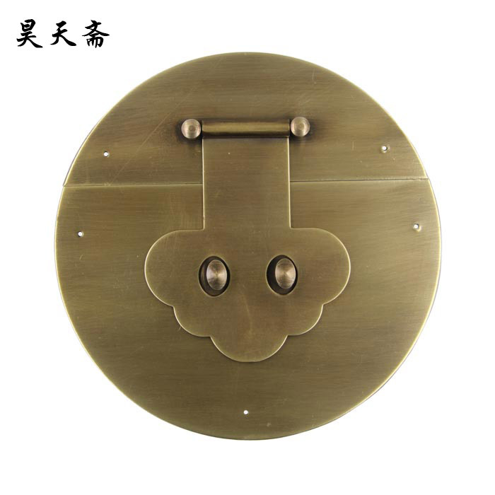 [Haotian vegetarian] antique furniture Chinese decoration copper live / flower-shaped box buckle / 22cm clasp HTN-003<br><br>Aliexpress