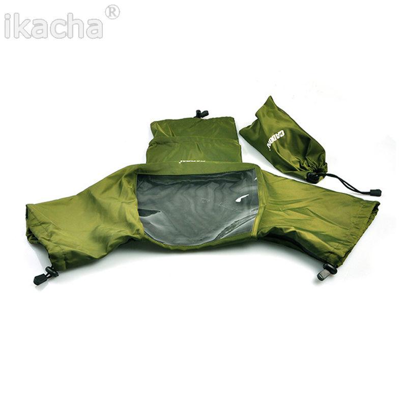 5pcs Green Camera Rain Cover Coat Bag Protector Rainproof Waterproof Canon Nikon Pendax Sony DSLR SLR