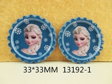 50Y13192 33*33mm 50pieces cartoon characters pattern flattened bottle caps diy hairbow hair bows necklace decoration accessories(China (Mainland))