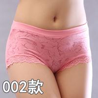 2015 4 pcs/lot Women's sexy panties ,  bamboo fibre underwear women ,high waist lace  plus size panties,free shipping