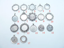 10pcs 25mm antique silver Base Setting Pendant-Trays cabochon Frame cameo Charm,Tray base setting (China (Mainland))