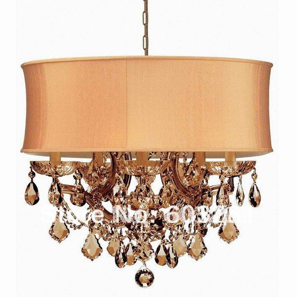 ATN4001/5+1P-Golden Teak,6 Light Maria Theresa Chandelier,Polished Chrome Gold + - AUTUMN LIGHTING FACTORY store