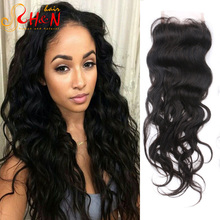 Indian Natrual Closure Free Middle Three part Lace Closure with Baby Hair Raw Virgin Indian Remi Hair Natural Wave Free Shipping