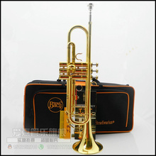 Bach LT180S-43 B flat professional trumpet bell gold Top musical instruments in Brass trompete trumpeter bugle horn trombeta(China (Mainland))