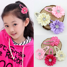 Buy wholesale girl's hair clip baby rhinestone flower hair clip children bb hairpins girl hair accessories free shipping 50ps/lot for $16.71 in AliExpress store