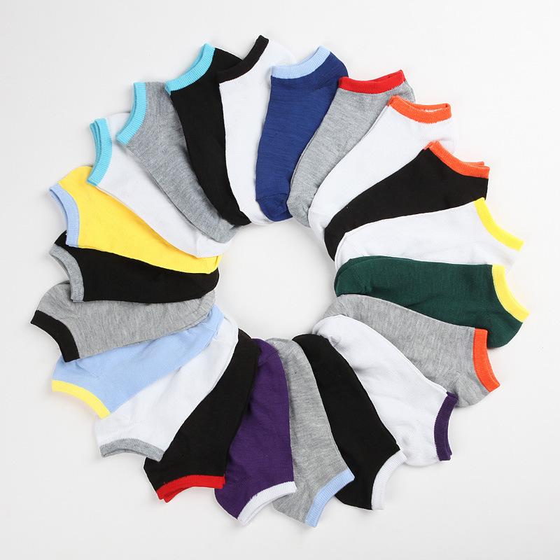 Контрастность цвет лето мужчины носки конфеты цвета вилочная часть носки спорт бизнес свободного покроя носки чулок