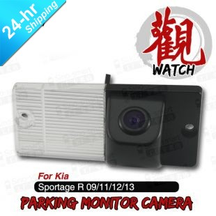 Free Shipping Wired HD CCD Car Parking Reversing Camera for Kia Sportage R 2009/2011/2012/2013 etc. Night Vision Waterproof(Hong Kong)