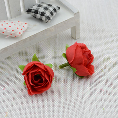 Fresh and Small tea buds artificial flowers Simulation small tea rose silk flower decoration flower head DIY accessories(China (Mainland))
