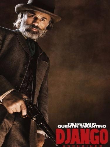 4287 Django Unchained Movie Christoph Waltz - Art Silk Cloth Poster