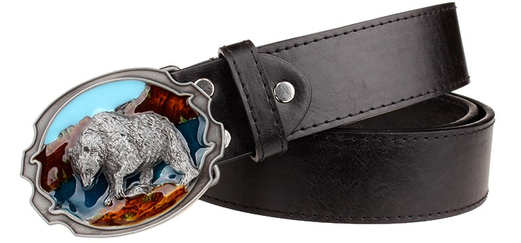 HTB1RICzLVXXXXaTaXXXq6xXFXXXH - Fashion New leather belt metal buckle Polar bear belts punk rock exaggerated russian style trend decorative belt for men gift