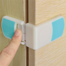 New Arrival Blue + White Cabinet Door Drawers Refrigerator Toilet Rectangular Snap Safety Lock Security Protect With Glue(China (Mainland))