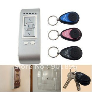Wireless key finder electronic key anti-lost the device alarm phone valuables search 3 receiver